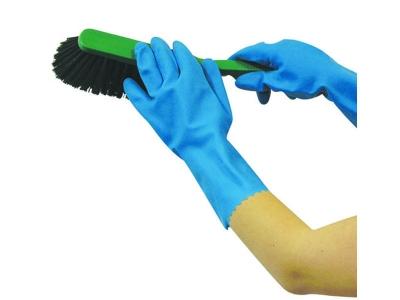 Household blue handschoenen