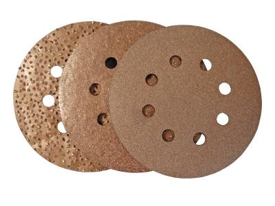CARBIDE schuurplaat rond met velcro Ø 125 mm