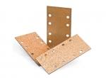 CARBIDE schuurplaat recht met velcro 185 x 93 mm